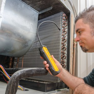 Advanced refrigerant leak detection service